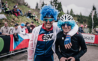 cycling fans up the infamous Monte Zoncolan (1735m/11%/10km)<br /> <br /> stage 14 San Vito al Tagliamento – Monte Zoncolan (186 km)<br /> 101th Giro d'Italia 2018
