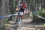 27.07.2013 La Massana, Andorra. UCI Mountain Bike World Cup. Picture show Sergio Mantecon (ESP) in action during Cross-Country Final at Vallnord
