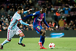 Ousmane Dembele (R) of FC Barcelona fights for the ball with Brais Mendez Portela of RC Celta de Vigo  during the Copa Del Rey 2017-18 Round of 16 (2nd leg) match between FC Barcelona and RC Celta de Vigo at Camp Nou on 11 January 2018 in Barcelona, Spain. Photo by Vicens Gimenez / Power Sport Images