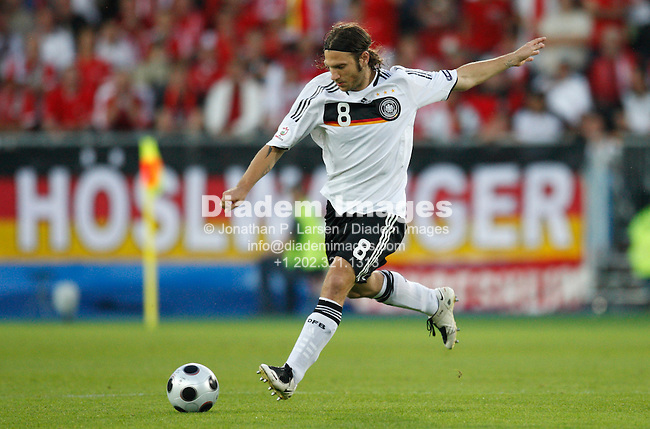 VIENNA - JUNE 16:  Torsten Frings of Germany sets to kick the ball during a UEFA Euro 2008 Group B match against Austria at Ernst Happel Stadion June 16, 2008 in Vienna, Austria.  (Photograph by Jonathan P. Larsen)