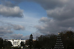 The White House and Christmas Tree on December 7, 2013 in Washington, D.C..