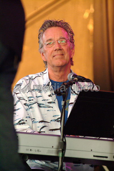 June 22, 2003; Pittsburgh, PA, USA; Keyboardist  RAY MANZAREK of THE DOORS of the 21st CENTURY makes a summer tour stop at the Post-Gazette Pavilion.  Mandatory Credit: Photo by Jason Nelson/AdMedia (©) Copyright 2003 by Jason Nelson