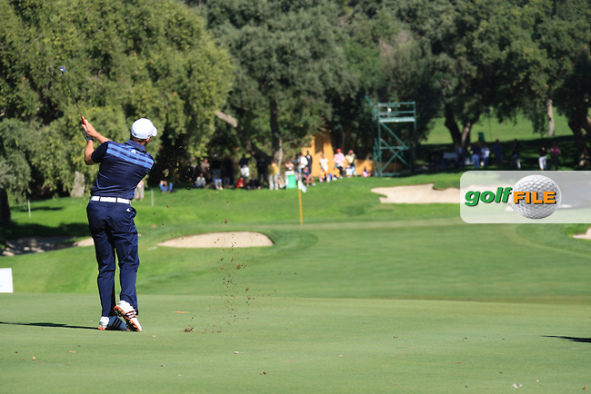 Sergio Garcia (ESP) during the 2nd day at the  Andalucía Masters at Club de Golf Valderrama, Sotogrande, Spain. .Picture Fran Caffrey www.golffile.ie