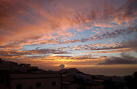 Spectacular sun rise over San Miguel village, Tenerife, Canary Islands