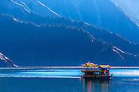 Heavenly Lake in China near Urumqi in far western China.