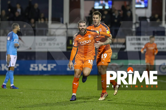 GOAL - Elliot Lee of Luton Town (10) scores his team's second goal during the Sky Bet League 1 match between Luton Town and Bradford City at Kenilworth Road, Luton, England on 27 November 2018. Photo by David Horn.