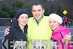 Looking forward to the Feet First 5 mile run in Killarney on Friday were Christine Reen, Joe Barrett and Louise O'Donoghue.