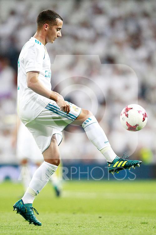 Real Madrid's Lucas Vazquez during Santiago Bernabeu Trophy. August 23,2017. (ALTERPHOTOS/Acero)