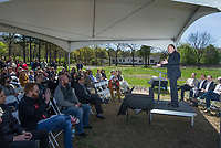 NWA Democrat-Gazette/BEN GOFF @NWABENGOFF<br /> Guests gather Friday, April 12, 2019, during a groundbreaking ceremony for the New Beginnings facility in Fayetteville.