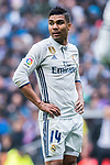 Carlos Henrique Casemiro of Real Madrid looks on during their La Liga match between Real Madrid and Valencia CF at the Santiago Bernabeu Stadium on 29 April 2017 in Madrid, Spain. Photo by Diego Gonzalez Souto / Power Sport Images
