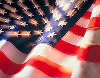 Close up of American flag. United States.