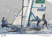 49er FX USA Paris Henken USAPH79 Helena Scutt USAHS38<br /> 49er FX BRA Martine Grael BRAMS13 Kahena Kunze BRAKK2<br /> <br /> 2016 Olympic Games <br /> Rio de Janeiro