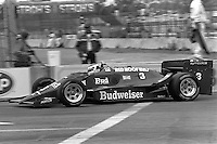 LONG BEACH, CA - APRIL 13: Bobby Rahal drives his March 86C/Cosworth during the Toyota Grand Prix of Long Beach CART Indy Car race on the temporary Long Beach Street Circuit in Long Beach, California, on April 13, 1986.