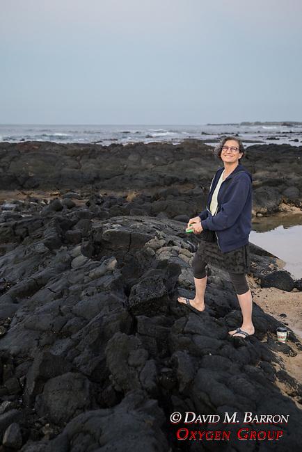 Debora Mayer Morning Walk On Vocanic Rock, Kona Seaside