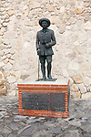 The only public statue of General Franco remaining in place in Spain, Melilla autonomous city state, north Africa, Spain