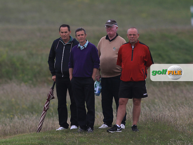 Local support for Gerard Dunne (Co. Louth) on the 11th during Round 2 of the East of Ireland Amateur Open Championship sponsored by City North Hotel at Co. Louth Golf club in Baltray on Sunday 5th June 2016.<br /> Photo by: Golffile | Thos Caffrey