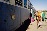 Ali Sabieh, Djibouti. Departure of the train to Ethiopia.