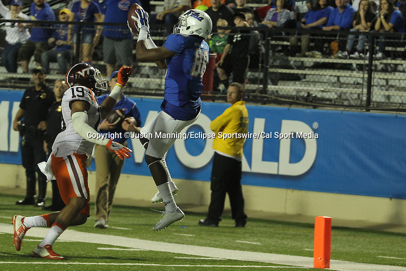 December 26, 2015: Tulsa WR Josh Atkinson scoring a touchdown during the 2nd half of the Camping World Independence Bowl at Independence Stadium in Shreveport, LA. Justin Manning/ESW/CSM