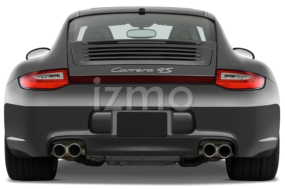 Straight rear view of a 2009 Porsche Carrera 4S Coupe