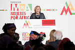 The Mayor of Madrid Manuela Carmena attends the annual meeting of the Board of the Foundation for African women in Madrid, November 16, 2015.<br /> (ALTERPHOTOS/BorjaB.Hojas)