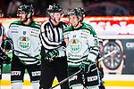 Stockholm 2014-03-27 Ishockey Kvalserien Djurg&aring;rdens IF - R&ouml;gle BK :  <br /> R&ouml;gles Daniel Zaar diskuterar med domare referee ref <br /> (Foto: Kenta J&ouml;nsson) Nyckelord:  DIF Djurg&aring;rden R&ouml;gle RBK Hovet portr&auml;tt portrait diskutera argumentera diskussion argumentation argument discuss