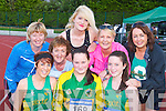 Competing in the An Riocht 5km race in Castleisland on Friday evening was front row l-r: Caroline Martin Castleisland, Lisa Browne Scartaglen, Ellen Browne Scartaglen. Back row: Bridget O'Connor Ballymac, Sheila Curtin knocknagoshel, Aine O'Connor Currow, Nora Lambe Tralee and Kathryn Smith Tralee....