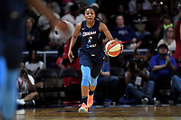 Washington, DC - June 1, 2019: Atlanta Dream guard Renee Montgomery (21) brings the ball up court during game between Atlanta Dream and Washington Mystics at the St. Elizabeths East Entertainment and Sports Arena (Photo by Phil Peters/Media Images International)