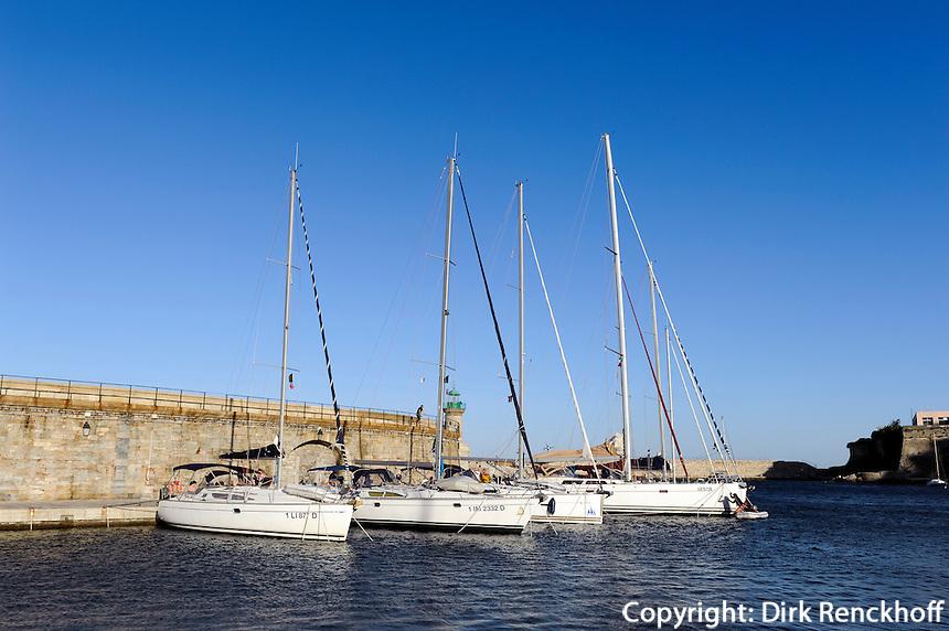 Jachthafen in Bastia, Korsika, Frankreich