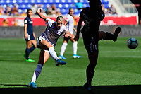 HARRISON, NJ - SEPTEMBER 29: Alanna Kennedy #14 of the Orlando Pride during a game between Orlando Pride and Sky Blue FC at Red Bull Arena on September 29, 2019 in Harrison, New Jersey.