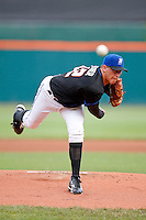 June 29, 2009:  Starting Pitcher Tobi Stoner of the Buffalo Bisons delivers a pitch during a game at Coca-Cola Field in Buffalo, NY.  The Bisons are the International League Triple-A affiliate of the New York Mets.  Photo by:  Mike Janes/Four Seam Images