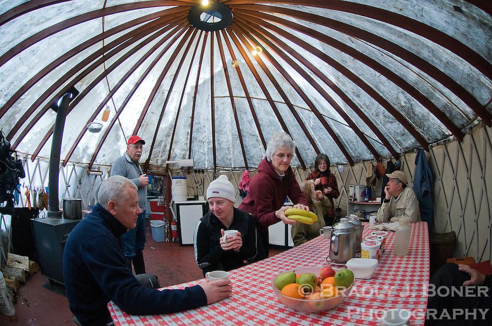 Yellowstone Expeditions yurt camp   Bradly J  Boner