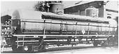 3/4 view of TCX72 tank car with 2 domes at Salida.<br /> D&amp;RGW  Salida, CO  8/1940