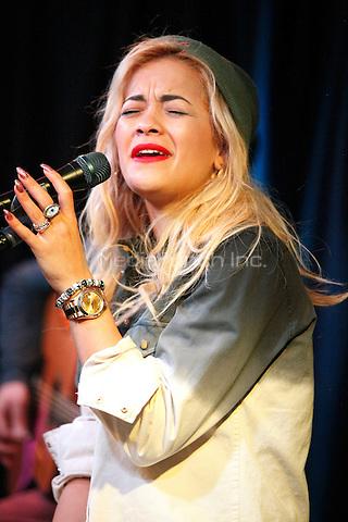 Rita Ora visits Q 102 iHeart Radio Performance Theater in Bala Cynwyd, Pa on April 16, 2012  © Star Shooter / MediaPunchInc