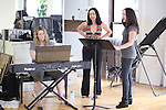 Valerie Sciarra, Natascia Diaz & Tamra Hayden.at the Actor's Fund Benefit Rehearsal for 'CHESS' on 7/20/2012 in New York City.  ***EXCLUSIVE***