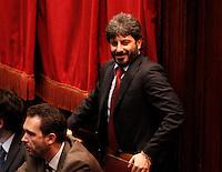 ROMA SEDUTA DI INSEDIAMENTO ALLA CAMERA DEI DEPUTATI DEL PARLAMEENTO ITALIANO.NELLA FOTO ROBERTO FICO.FOTO CIRO DE LUCA