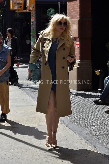 WWW.ACEPIXS.COM<br /> <br /> September 25 2013, New York City<br /> <br /> Courtney Love walks in Soho on September 25 2013 in New York City<br /> <br /> By Line: Curtis Means/ACE Pictures<br /> <br /> <br /> ACE Pictures, Inc.<br /> tel: 646 769 0430<br /> Email: info@acepixs.com<br /> www.acepixs.com
