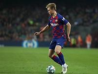 29th October 2019; Camp Nou, Barcelona, Catalonia, Spain; La Liga Football, Barcelona versus Real Valladolid;  De Jong comes forward on the ball