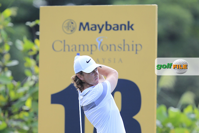 Tommy Fleetwood (ENG) in action during Round Two of the Maybank Championship Malaysia 2016, at the Royal Selangor Golf Club, Kuala Lumpur, Malaysia.  19/02/2016. Picture: Golffile | Thos Caffrey.<br /> <br /> All photos usage must carry mandatory copyright credit (&copy; Golffile | Thos Caffrey).