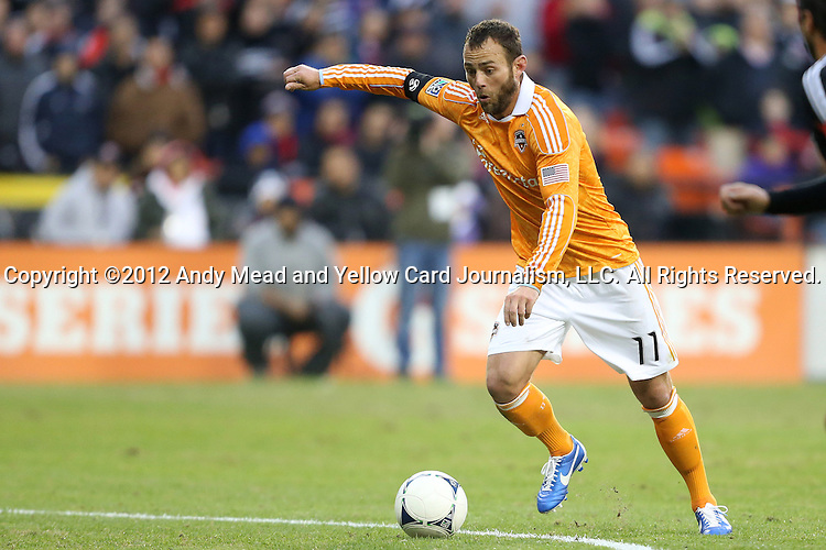 18 November 2012: Houston's Brad Davis. DC United played the Houston Dynamo at RFK Stadium in Washington, DC in the second leg of their 2012 MLS Cup Playoffs Eastern Conference Final series. The game ended in a 1-1 tie, Houston won the series 4-2 on aggregate goals.