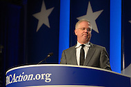 October 8, 2011  (Washington, DC)  Talk show host and political commentator Glenn Beck talked to an audience at the Values Voter Summit in Washington.  The Summit was organized by FRC Action, the non-profit legislative action arm of Family Research Council.   (Photo by Don Baxter/Media Images International)