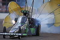 Aug 19, 2016; Brainerd, MN, USA; NHRA top fuel driver Brittany Force during qualifying for the Lucas Oil Nationals at Brainerd International Raceway. Mandatory Credit: Mark J. Rebilas-USA TODAY Sports