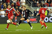 USWNT midfielder Amy Rodriguez (8) in action.....USWNT played to a 1-1 tie with Canada at LIVESTRONG Sporting Park, Kansas City, Kansas.