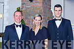 Brendan and Maria McMahon with James McCArthy at the Kerry Garda ball in the Killarney Oaks Hotel on Friday night