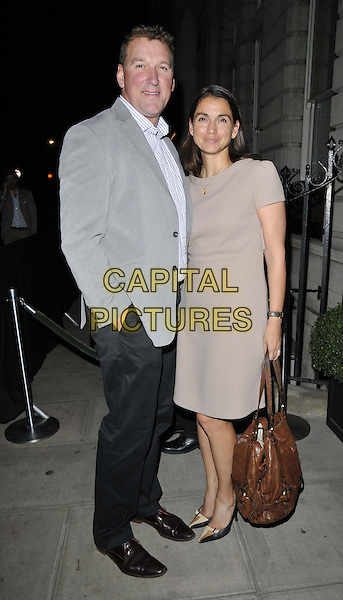 LONDON, ENGLAND - SEPTEMBER 15: Sir Matthew Pinsent &amp; Lady Demetra Pinsent attend the Business of Fashion latest BOF 500 list launch dinner &amp; party, Berners Tavern, The London Edition Hotel, Berners St., on Monday September 15, 2014 in London, England, UK. <br /> CAP/CAN<br /> &copy;Can Nguyen/Capital Pictures