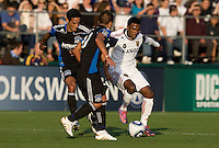 Robbie Findley of Real Salt Lake in action during the game against Earthquakes at Buck Shaw Stadium in Santa Clara, California on March 27th, 2010.   Real Salt Lake defeated San Jose Earthquakes, 3-0.