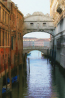 This arched bridge is named for sighs of prisoners crossing it en route from the Palazzo Ducale to prison.