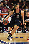 March 6, 2015; Las Vegas, NV, USA; Loyola Marymount Lions guard/forward Alyson Lock (10) dribbles the basketball against the Gonzaga Bulldogs during the second half of the WCC Basketball Championships at Orleans Arena.