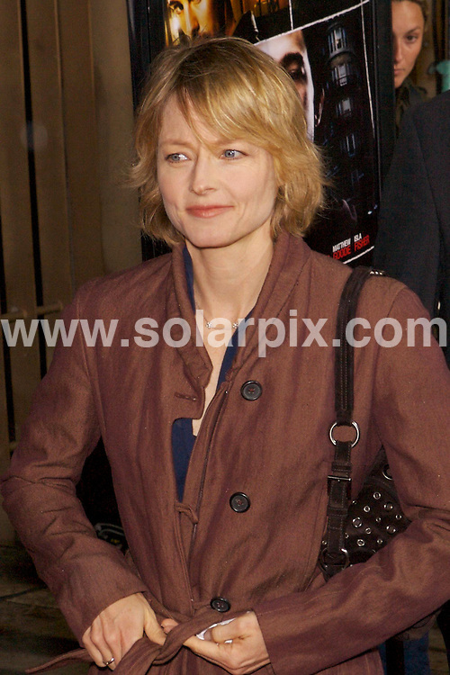 "**ALL ROUND PICTURES FROM SOLARPIX.COM**.**SYNDICATION RIGHTS FOR UK, SPAIN, POTUGAL, AUSTRALIA, S.AFRICA & DUBAI (U.A.E) ONLY**.The Los Angeles Premiere of ""The Lookout"" at the The Egyptian Theater in Los Angeles Hollywood, California in the USA..This pic: JODIE FOSTER.JOB REF:3546-PHZ    DATE:20_03_07 .**MUST CREDIT SOLARPIX.COM OR DOUBLE FEE WILL BE CHARGED* *UNDER NO CIRCUMSTANCES IS THIS IMAGE TO BE REPRODUCED FOR ANY ONLINE EDITION WITHOUT PRIOR PERMISSION*"