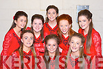 Boherbue dancers at the Scor na nOg Munster semi finals in Millstreet on Sunday front row l-r: Beatrice Casey, Cliodhna Ducey, Katie O'Sullivan. Back row: Íde Herlihy, Ruth Cremin, Claire Ahern, Lisa O'Keeffe and Lena Sheehan