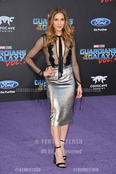 Allison Holker at the world premiere for &quot;Guardians of the Galaxy Vol. 2&quot; at the Dolby Theatre, Hollywood. <br /> Los Angeles, USA 19 April  2017<br /> Picture: Paul Smith/Featureflash/SilverHub 0208 004 5359 sales@silverhubmedia.com